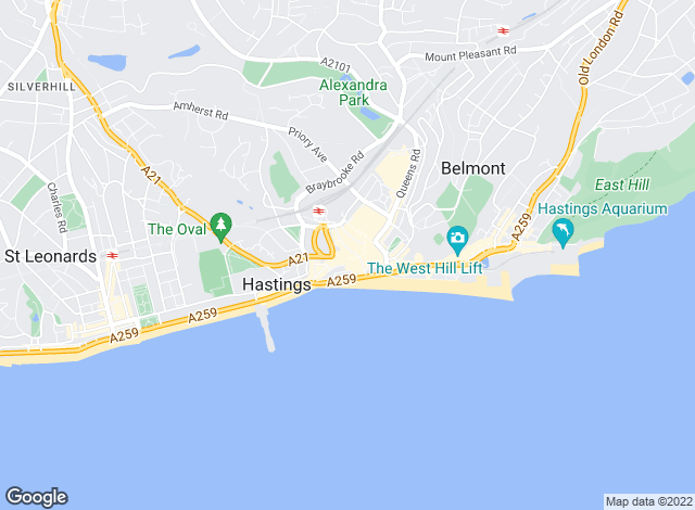 Map for Andrews Lettings and Management, Hastings