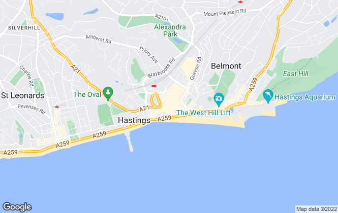 Map for Andrews Letting and Management, Hastings