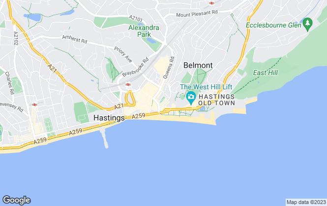 Map for Kinzett & Bowler, Hastings