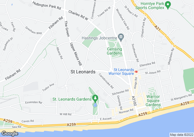 Map for Pevensey Road, ST LEONARDS-ON-SEA, East Sussex, TN38 0LF