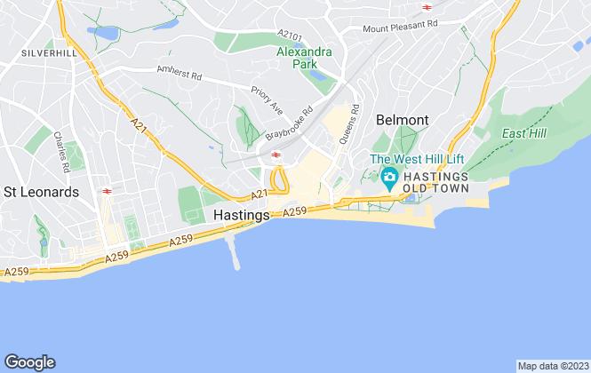 Map for Rush Witt & Wilson, Hastings