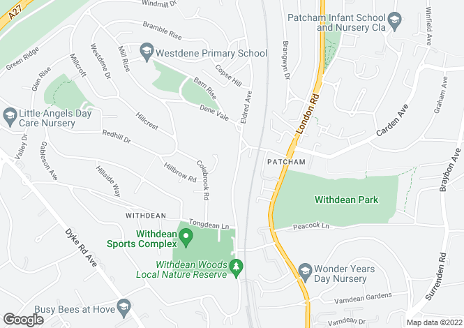 Map for Eldred Avenue,