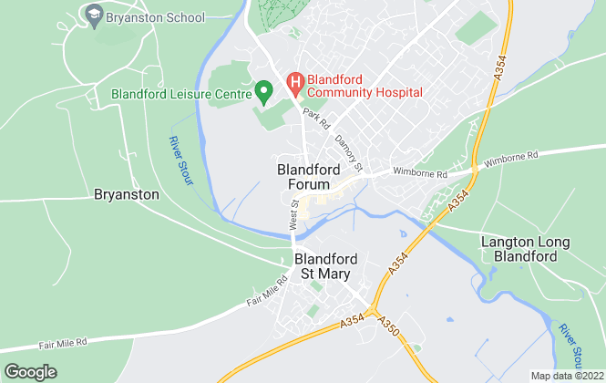 Map for Chesterton Humberts Sales, Blandford