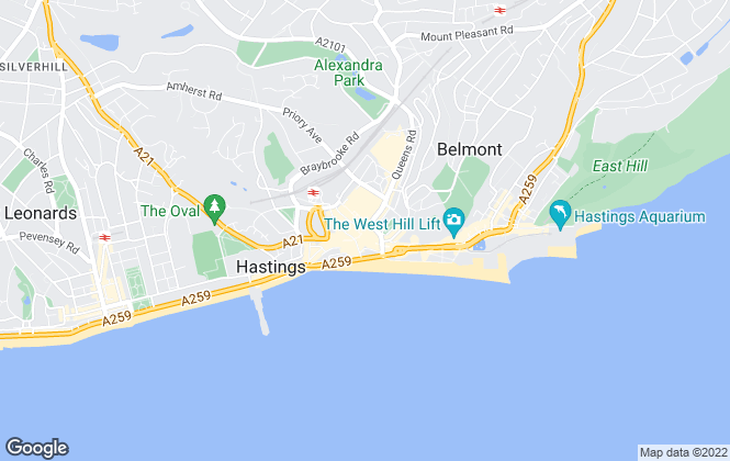 Map for Nubrix Ltd, Hastings