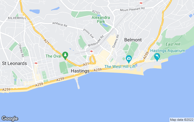 Map for MADE, Hastings