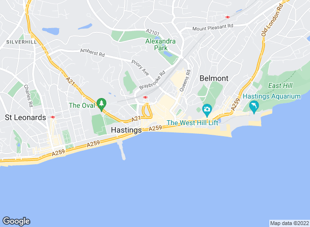Map for Rush Witt & Wilson, Hastings