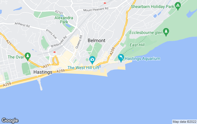 Map for Just Property , Hastings