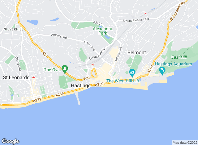 Map for YOUR MOVE, Hastings