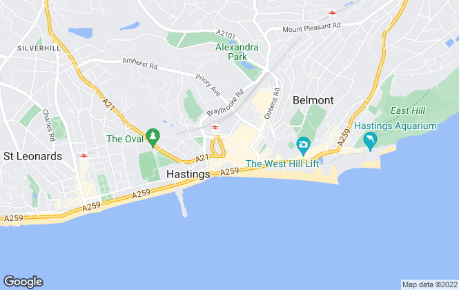Map for Smart Property Solutions, Hastings
