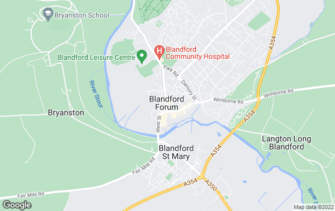 Map for Chaffers , Blandford Forum