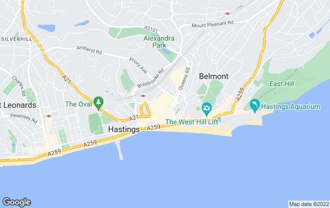 Map for Romans Prestige Property Sales & Investments, Hastings