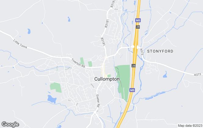 Map for Seddons, Cullompton