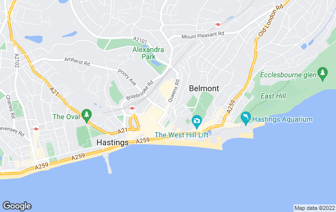 Map for Easy Let Rental Agents, Hastings