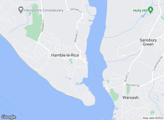 Map for Hamble Accommodation, Hamble
