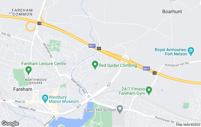 Map for Hellier Langston Commercial Agents, Fareham