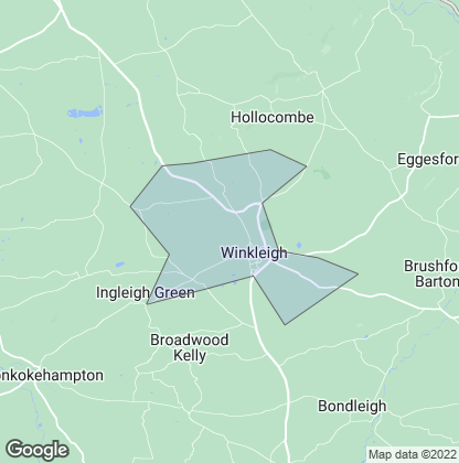 Map of property in Winkleigh