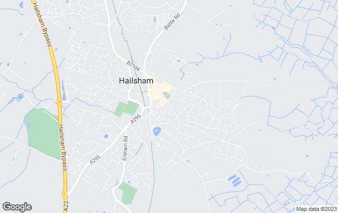 Map for Crown Property Agents Ltd, Hailsham