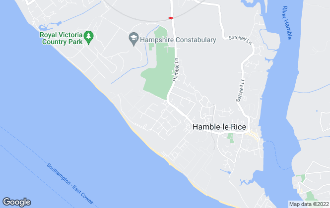 Map for River Lettings, Hamble