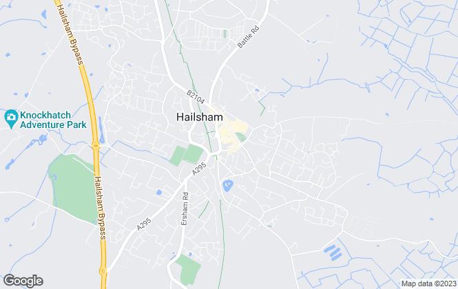 Map for Bates & Co, Hailsham