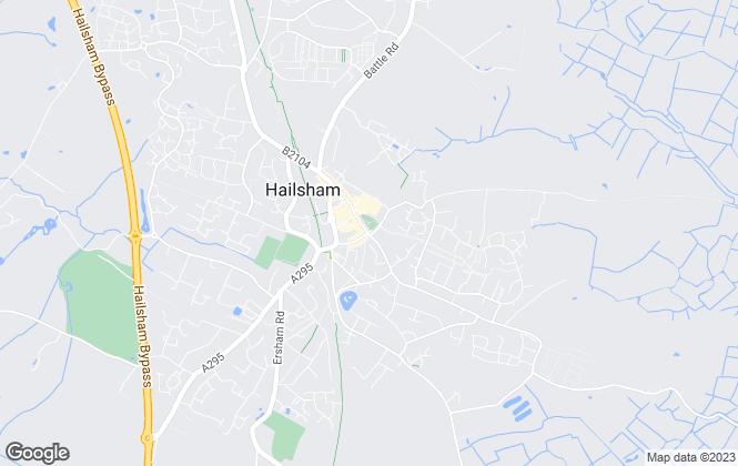 Map for Simon Marden Estate Agents, Hailsham