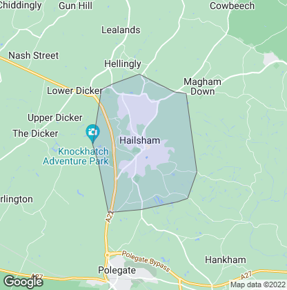 Map of property in Hailsham