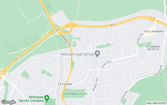 Map for Cubitt & West, Patcham (Brighton)