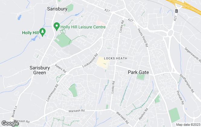 Map for Mann Lettings, Locks Heath