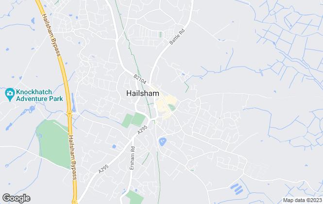 Map for Crane & Co Estate Agents, Hailsham