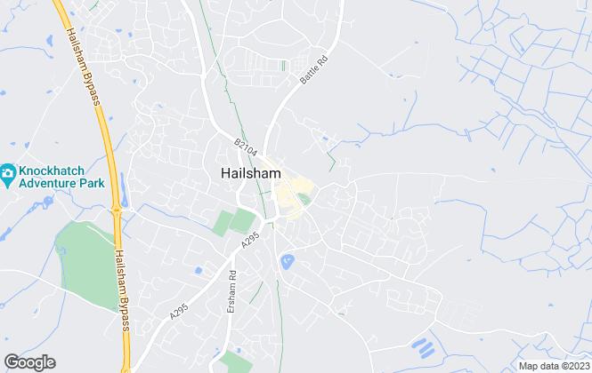 Map for Fox & Sons, Hailsham