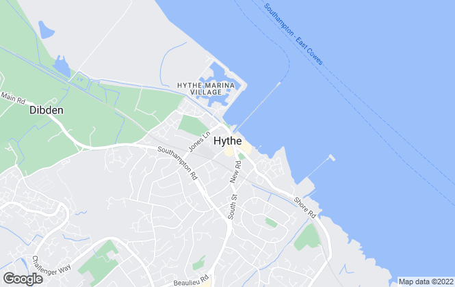 Map for Enfields, Hythe