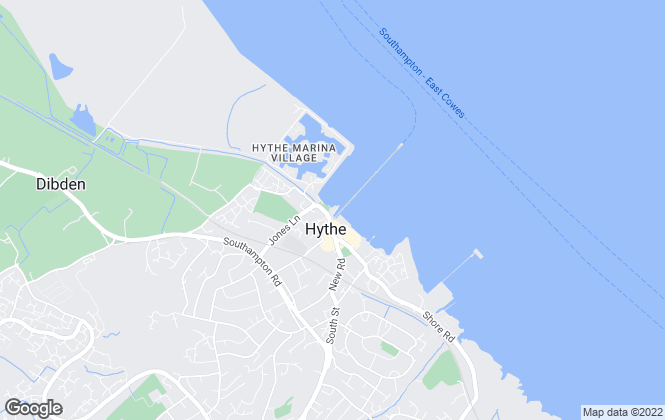 Map for Hythe & Waterside Lettings, Hythe
