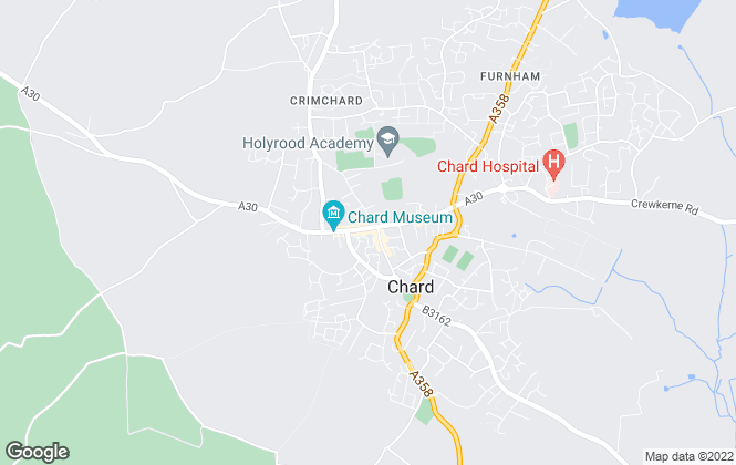 Map for Derbyshire Estate Agents, Chard