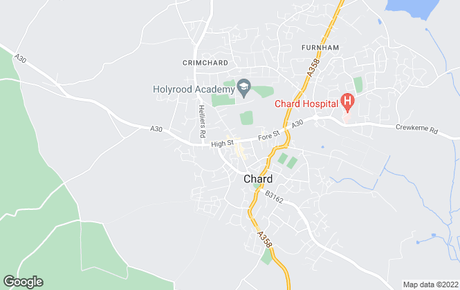 Map for Derbyshire Estate Agents, Chard