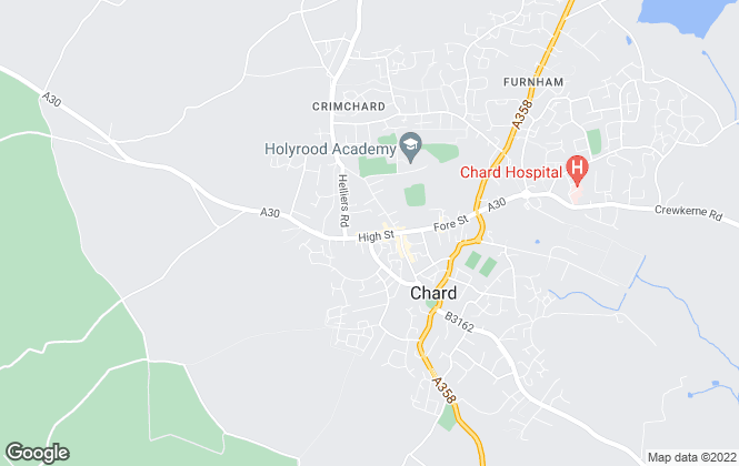 Map for Derbyshire�s Lettings Department, Chard