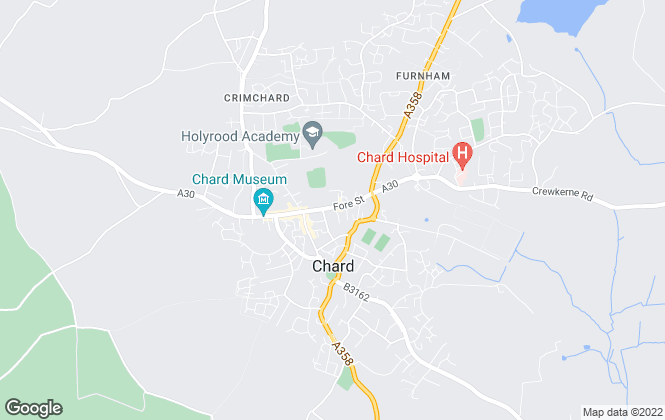 Map for Paul Fenton Estate Agents, Chard