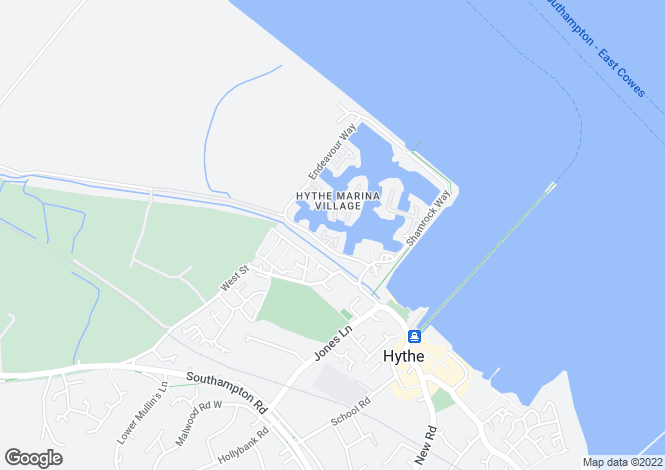 Map for Endeavour Way, Hythe Marina, Hampshire, SO45 6DX