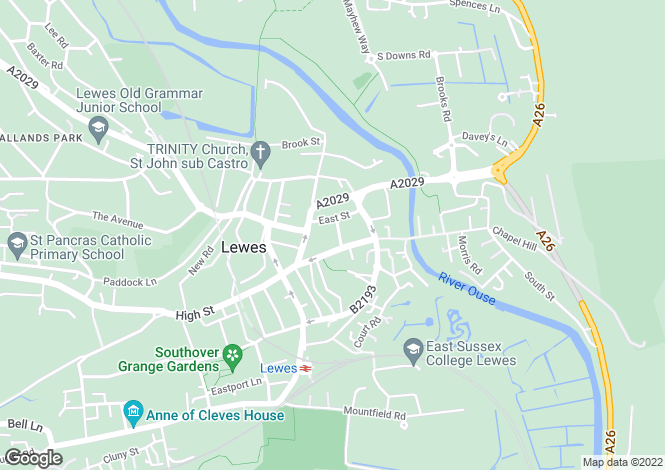 Map for Lewes