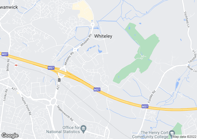Map for Johnson View, Whiteley
