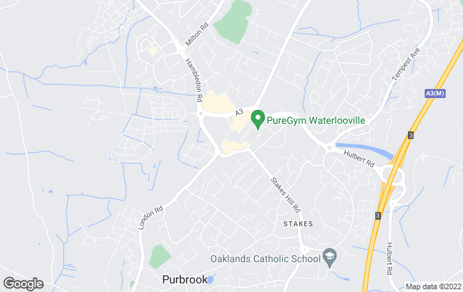 Map for Jeffries Estate Agents, Waterlooville