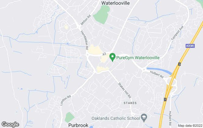 Map for Chapplins Estate Agents, Waterlooville