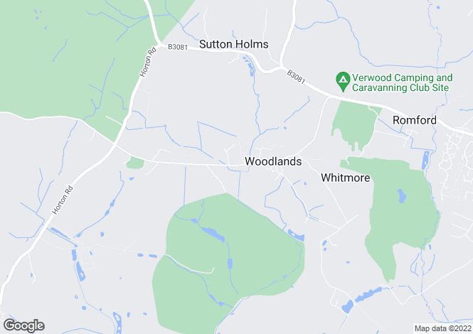 Map for Woodlands, Wimborne