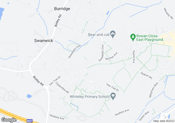 Map for Hemingway Gardens, Whiteley, PO15 7EY