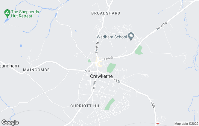 Map for McKinlays Estate Agents, Crewkerne - Lettings