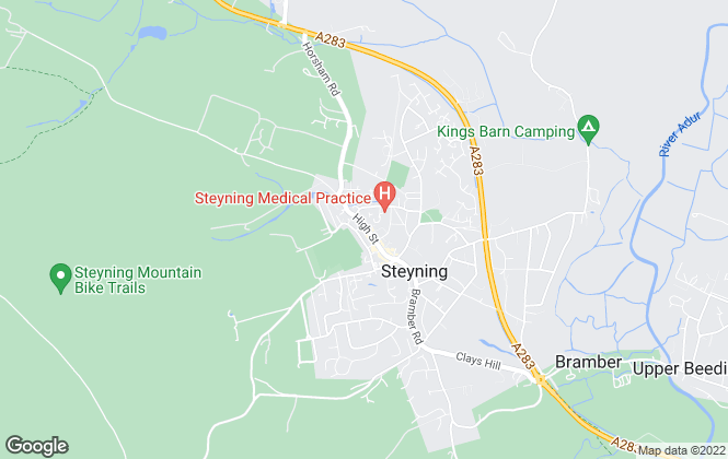 Map for H J  Burt, Steyning