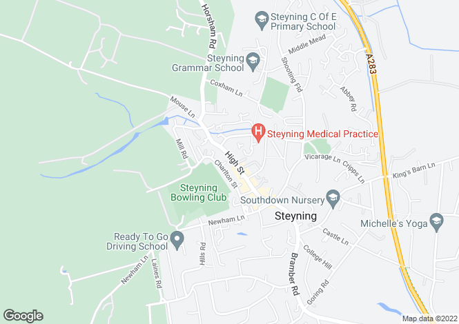 Map for Steyning