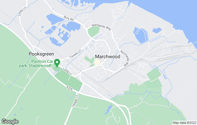 Map for Pococks, Marchwood