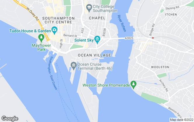 Map for Keygrove Chartered Surveyors, Southampton