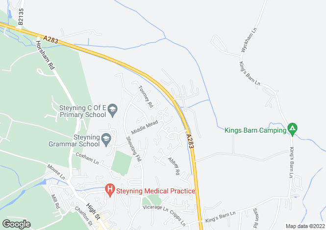 Map for Farnefold Road, Steyning, West Sussex