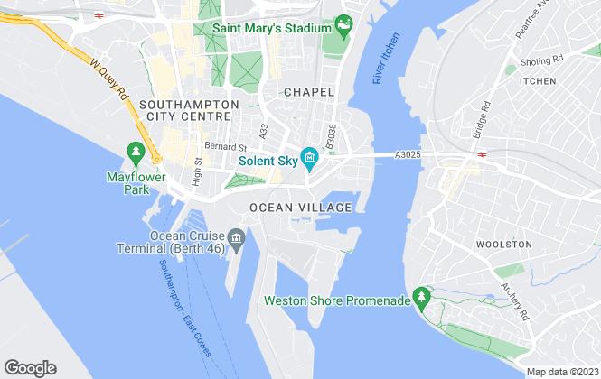 Map for Marco Harris, Southampton