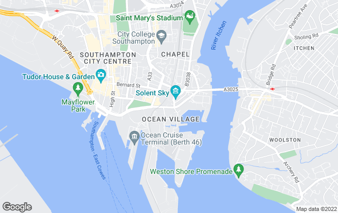 Map for Knights Porter, Southampton
